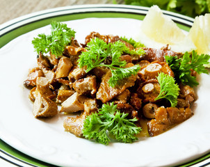 Chanterelle Mushrooms Stew