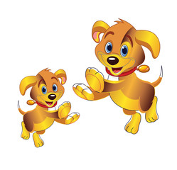 3D cartoon dog vector clipart