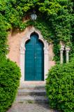 old mysterious door in the garden