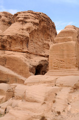 Rocks of Petra in Jordan
