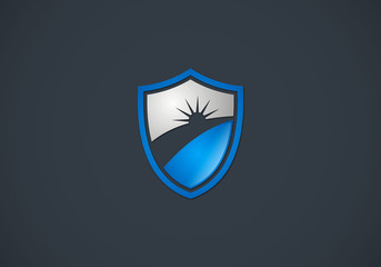 shine shield protection vector logo
