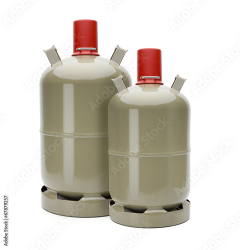 Leinwanddruck Bild Gasflaschen