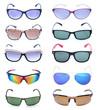 Group of beautiful sunglasses