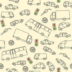 Transportation doodle - vector illustration