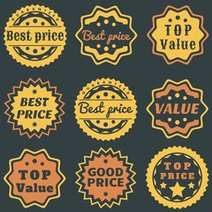 Best price sticker - badge set
