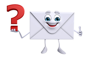 Mail Character with question mark