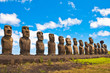 Moais in Ahu Tongariki, Easter island (Chile) - 67880498