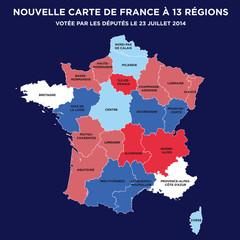 Carte de France à 13 régions