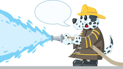 Firefighting Dog