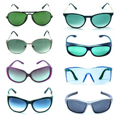 Group of beautiful sunglasses
