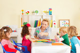 Fototapety Preschoolers in the classroom