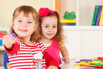 Preschoolers in the classroom