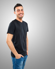 Smiling young man portrait