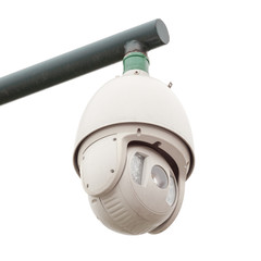 Security camera, CCTV isolated from white background