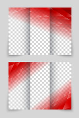 Brochure red template