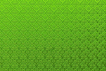 Green plaster wall for pattern and background