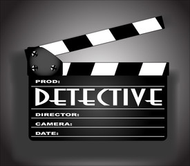 Detective Movie Clapperboard