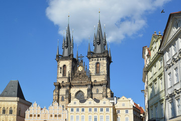 Prague. Church of the maiden Maria before Tyn