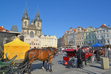 Prague. View of Staromestskaya Square