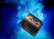typewriter underwater