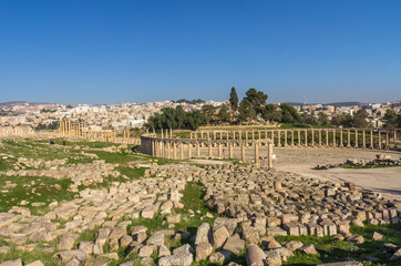 Ancient Roman city of Jerash in Jordan
