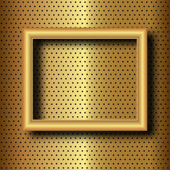 frame on gold