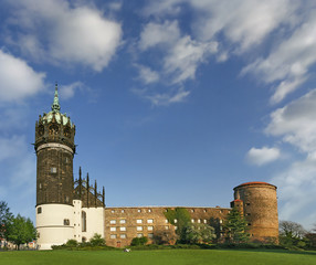 Castle and Castle Church of Luther City Wittenberg in Germany