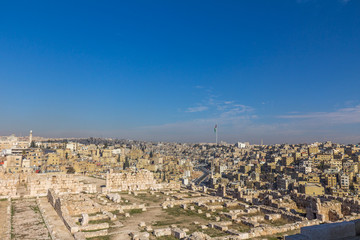 View of Amman Jordan from the Citadel