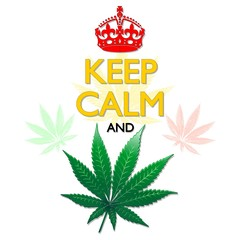 Keep Calm and Marijuana Leaf