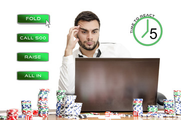 Online poker decision
