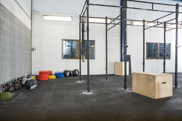 Exercise Equipment At Cross Fitness Box