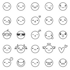 smilies vector icons