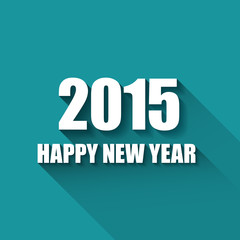 Modern simple Happy new year card (2015)