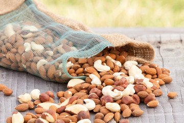 Cashew, almond, hazel and brazilian nuts