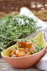 shrimps with tomato and garlick sauce