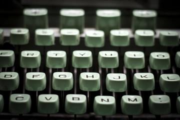 old green typewriter, shaded image,