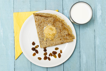 Fresh Homemade Sweet Buckwheat Crepe