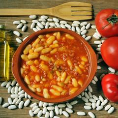 potaje de judias, spanish white beans stew