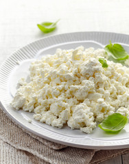 cottage cheese on white plate