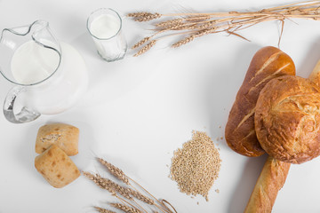 Assorted Composition of Breads on the Table