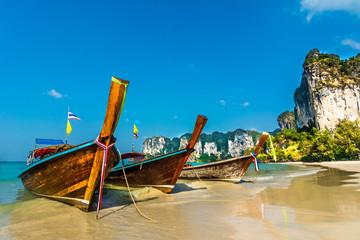 Tropical island paradise on Railey beach