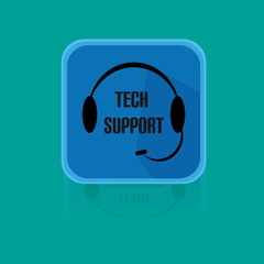 Call Centrum Flat Design Button Tech Support