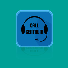 Flat Design Button Call Centrum