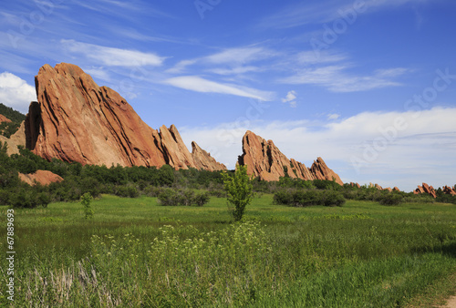 Fotobehang Natuur Park Sandstone formation in Roxborough State Park in Colorado, USA