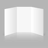 blank trifold paper poster