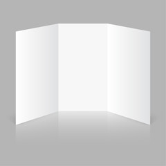 blank trifold paper