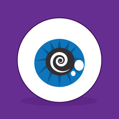 Eyeball with spiral in the iris