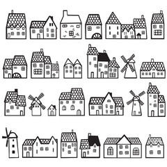 set painted houses