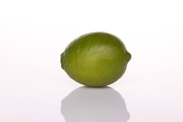 Lime with shadow isolated on white background