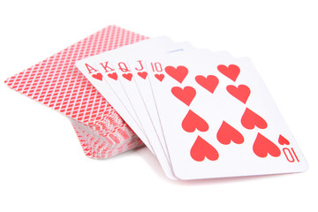 Deck of cards isolated on white
